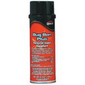 Bug Ban Plus Insect Repellent, 6.5 oz Aerosol, 12/Case