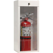 "Metal Extinguisher Cabinet, 29 3/4""H x 10 1/2""W x 8 1/4""D"