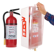 5 lb ABC Pro Line Fire Extinguisher w/ Mark I Jr. Cabinet, White Tub/Clear Cover