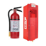 5 lb ABC Pro Line Fire Extinguisher w/ Mark I Jr. Cabinet, White Tub/Red Cover
