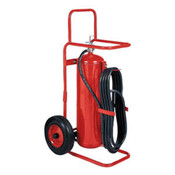 Badger™ 50 lb Wheeled Stored Pressure ABC Extinguisher,  25' Hose