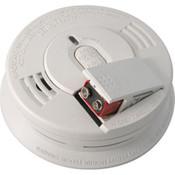 Kidde Interconnectable AC/DC Smoke Alarm w/ Battery Backup, Front-Loading Battery Door, Smart Hush, Silent Hush, & Alarm Memory (Ionization)