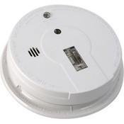 Kidde Interconnectable AC/DC Smoke Alarm w/ Battery Backup, Exit Light, Smart Hush, Silent Hush, & Alarm Memory (Ionization)
