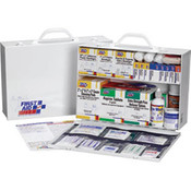 2-Shelf, 75-Person, 515-Piece First Aid Station w/ 8-Pocket Liner