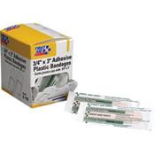 """Plastic Bandages, 3/4"""" x 3"""", 100/Box"""