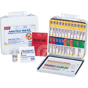 24-Unit, 165-Piece Unitized First Aid Kit w/ Gasket, Metal