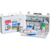 25-Person, 110-Piece Bulk First Aid Kit w/ CPR Shield (Metal)