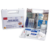 25-Person, 107-Piece Bulk First Aid Kit w/ Dividers (Plastic)