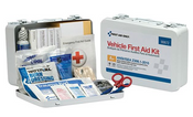 25-Person, 116-Pc ANSI A+ Weatherproof Vehicle First Aid Kit, Metal