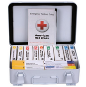 25-Person, 16-Unit ANSI A Weatherproof First Aid Kit, Metal