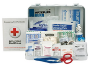 25-Person, 141-Pc ANSI A+ Weatherproof First Aid Kit, Metal