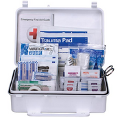 25-Person, 141-Pc ANSI A+ Weatherproof First Aid Kit, Plastic