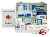 25-Person, 89-Pc ANSI A Weatherproof First Aid Kit, Metal