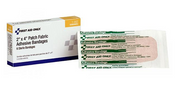 """Adhesive Strips, Light Woven Fabric, Extra Large, 2"""" x 4 1/2"""", 6/Box"""