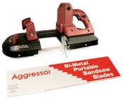 """Aggressor Port-A-Band Bi-Metal Portable Bandsaw Blades, Constant Pitch (B4414),  44 7/8"""" x 1/2"""" x 0.02"""", 10 Raker TPI (3/Pkg.)"""