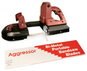 """Aggressor Port-A-Band Bi-Metal Portable Bandsaw Blades, Constant Pitch (B4418),  44 7/8"""" x 1/2"""" x 0.02"""", 14 Raker TPI (3/Pkg.)"""