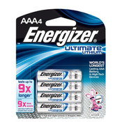 Energizer Ultimate Lithium AAA Batteries (4/Pkg.)