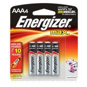 Energizer Max Alkaline AAA Batteries (4/Pkg.)
