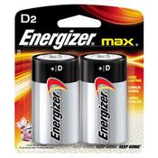 Energizer Max Alkaline D Batteries (2/Pkg.)