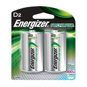 Energizer Recharge D Batteries, 2500 mAh (2/Pkg.)