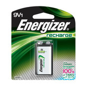 Energizer Recharge 9V Battery, 175 mAh