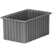 "Akro-Grid Dividable Grid Container, 16 1/2""L x 2 1/2""H x 10 7/8""W, Gray"