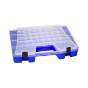 """Portable Storage Organizer, 46 Compartments, 15""""L x 3 1/4""""H x 11 5/6""""W"""