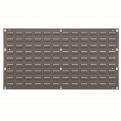"Louvered Panel, 35 3/4""L x 19""H x 5/16""W, Gray"