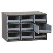 "19 Series Heavy-Duty Steel Storage Cabinet, 15 Drawer (Drawer Dimensions: 3 3/16""W x 3 1/16""H x 10 9/16""D), Gray"
