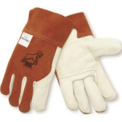 Red Ram Grain Cowhide Welders (12 Pair)