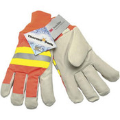 Memphis Luminator Pigskin Leather Palm Gloves, LG (12 Pair)
