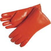 Memphis Premium Foam-Lined PVC Gloves, Knit Wrist (12 Pair)