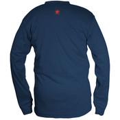 Max Comfort FR Long Sleeve Henley Shirt, Navy, Medium