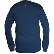 Max Comfort FR Long Sleeve Henley Shirt, Navy, 2X-Large