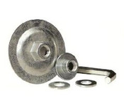 "Reusable Adapter for 7"" & 9"" T27 or T28 Depressed Center Grinding Wheels, Mercer Abrasives 692FLAN50, Qty. 1"