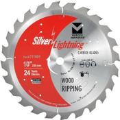 "10"" x 5/8"" Table Saw Ripping Carbide Blades, Mercer Abrasives 711001 (1/Pkg.)"