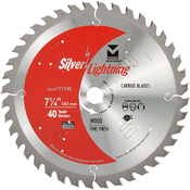 "7-1/4"" x 5/8"" Circular Saw Fine Finish Carbide Blades, Mercer Abrasives 717146 (1/Pkg.)"