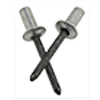 ASCE 6-4 3/16 (.126-.250) Aluminum/Steel Dome Closed-End Blind Rivets (5000/Bulk Pkg.)