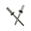 STSSCE 4-4 1/8 (.188-.250) Stainless Steel 304/Stainless Steel 420 Grooved Dome Closed-End Blind Rivets (10000/Bulk Pkg.)