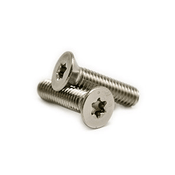 "#10-24 x 1/2"" 6-Lobe Flat Head Machine Screws, 18-8 Stainless Steel (3000/Bulk Pkg.)"