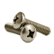 "#10-24 x 1 1/2"" Phillips Pan Head Machine Screws, 316 Stainless Steel (500/Pkg.)"