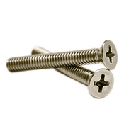 "#10-24 x 1"" Phillips Flat Head Machine Screws, 316 Stainless Steel (500/Pkg.)"