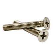 """#10-24 x 1/2"""" Phillips Flat Head Machine Screws, 316 Stainless Steel (1000/Pkg.)"""