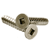 "#10 x 1 1/4"" Square Drive Flat Head Self-Tapping Screws Type A, 18-8 Stainless Steel (2000/Bulk Pkg.)"
