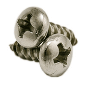 "#10 x 1"" Phillips Pan Head Self Tapping Screws Type A, 316 Stainless Steel (2000/Bulk Pkg.)"