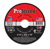 """14"""" x 3/32"""" x 1"""" Type 1 Abrasive Chop Saw Wheel, A46T, Proferred # A01030 (10/Pkg.)"""