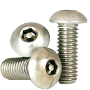 "#10-24 x 5/8"",(FT) Button Head Socket Cap Tamper Resistant Screw with Pin, 18-8 Stainless Steel (100/Pkg.)"