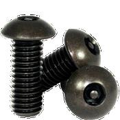 "#10-24 x 1"",(FT) Button Head Socket Cap Tamper Resistant Screw with Pin, Alloy Black Oxide (100/Pkg.)"