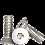 "#10-24x1""Fully Threaded Flat Socket Head Cap Screw, 316 Stainless Steel (100/Pkg.)"