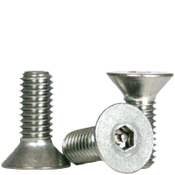 "#10-24x1/2"",(FT) Flat Head Socket Cap Security Screw with Pin, 18-8 Stainless Steel (100/Pkg.)"